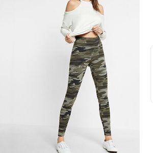 Express High Waist Leggings - Camo, Size M - NWT!
